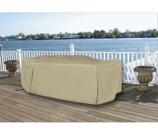 Durable Vinyl Premium Outdoor Round Patio Full Set Cover by LB International