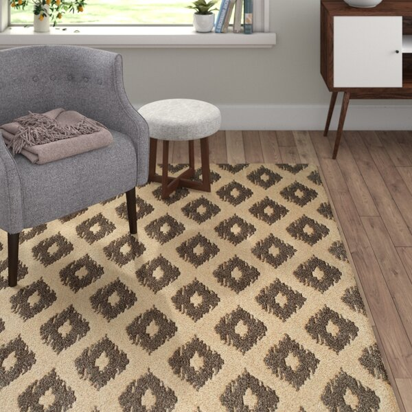 Curtis Hand-Tufted Khaki Area Rug by Langley Street