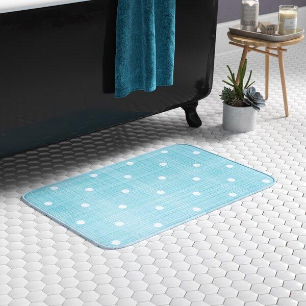 Knepp Polka Dots Seafoam Foam Core Bath Rug by Zipcode Design