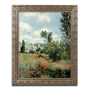 Path through the Poppies by Claude Monet Framed Painting Print by Trademark Fine Art