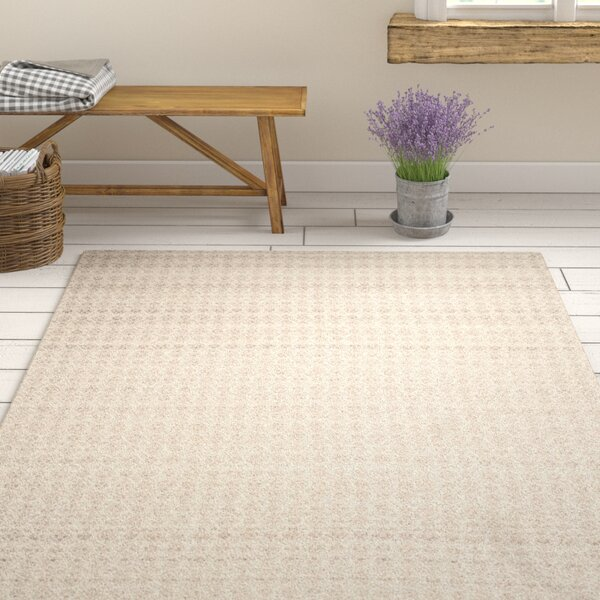 Anis Kilim Hand-Woven Wool Gray/Ivory Area Rug by One Allium Way