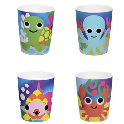 Ocean Kids Cup 6 oz. Plastic Every Day Glass (Set of 4) by French Bull