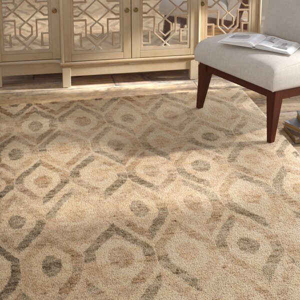 Pinehurst Contemporary Hand-Knotted Beige/Brown Area Rug by Bungalow Rose