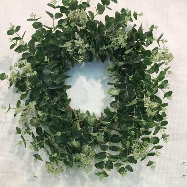 Artificial Faux Eucalyptus Wreath by Gracie Oaks