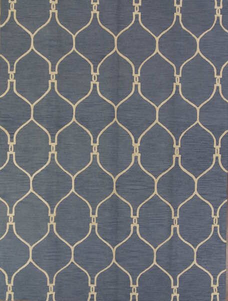 One-of-a-Kind Senna Trellis Oriental Hand-Tufted Wool Navy/Blue Area Rug by Alcott Hill