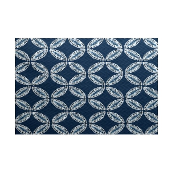 Viet Blue Geometric Indoor/Outdoor Area Rug by Bloomsbury Market