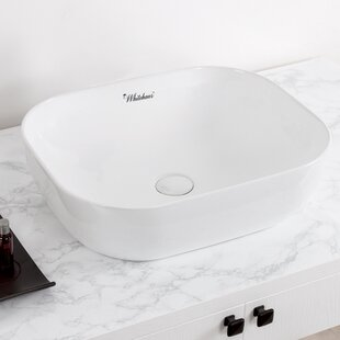 Best Choices Isabella Plus Vitreous China Rectangular Vessel Bathroom Sink ByWhitehaus Collection