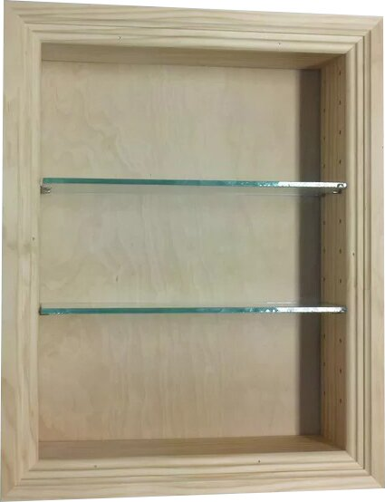 Newberry 14 W x 24 H Recessed Cabinet by WG Wood Products