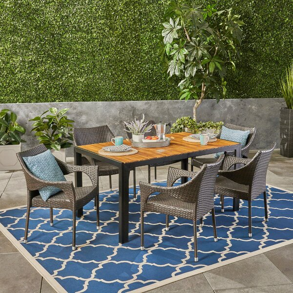 Montejano Outdoor 7 Piece Dining Set by Gracie Oaks