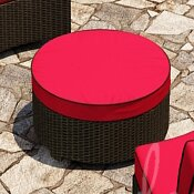 Kham Ottoman with Cushion by Wrought Studio