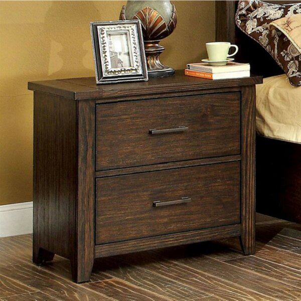 Mickie 2 Drawer Nightstand by Loon Peak