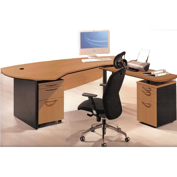 Executive Management 3 Piece L-Shaped Desk Office Suite by OfisELITE