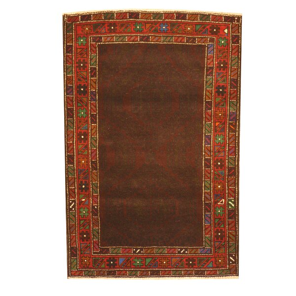 Prentice Hand-Knotted Brown Area Rug by Isabelline