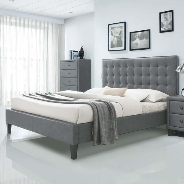 Pinder Upholstered Platform Bed by Brayden Studio