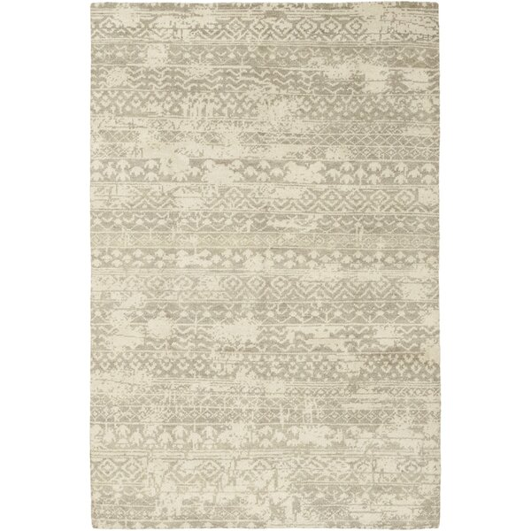 One-of-a-Kind Domingues Hand-Knotted Wool Beige Indoor Area Rug by Foundry Select
