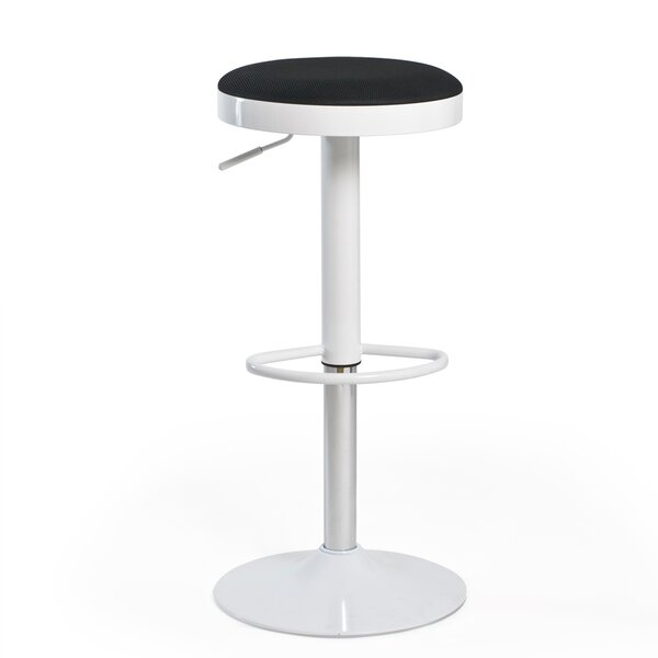 Hausman Adjustable Height Swivel Bar Stool by Ebern Designs