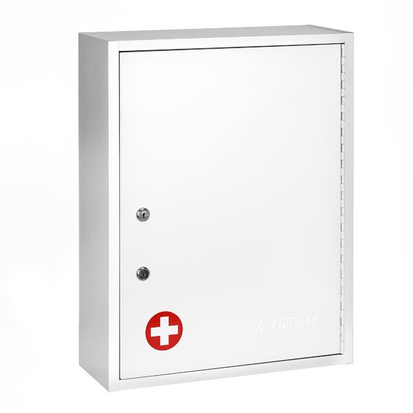 Medical Security Dual Lock 16 W x 21 H Wall Mounted Cabinet