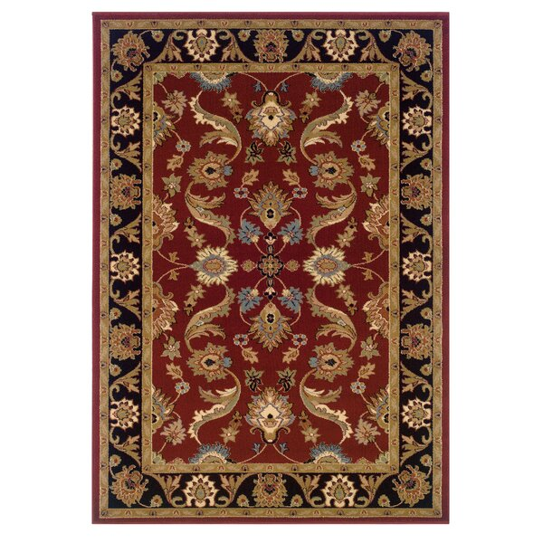 Carrie Persian Red/Black Area Rug by Astoria Grand