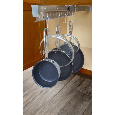 Charming Kitchen Cabinet Pull Out Horizontal Pot Rack