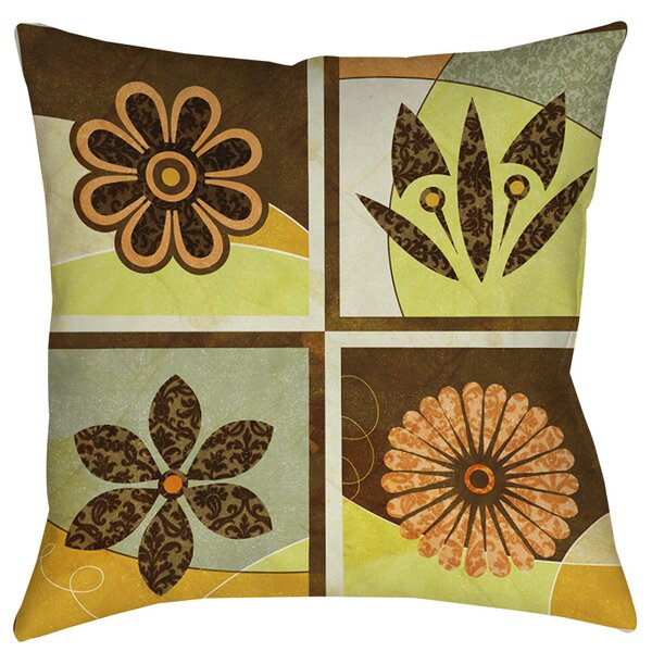 Graphic Garden Sydney Indoor/Outdoor Throw Pillow by Manual Woodworkers & Weavers