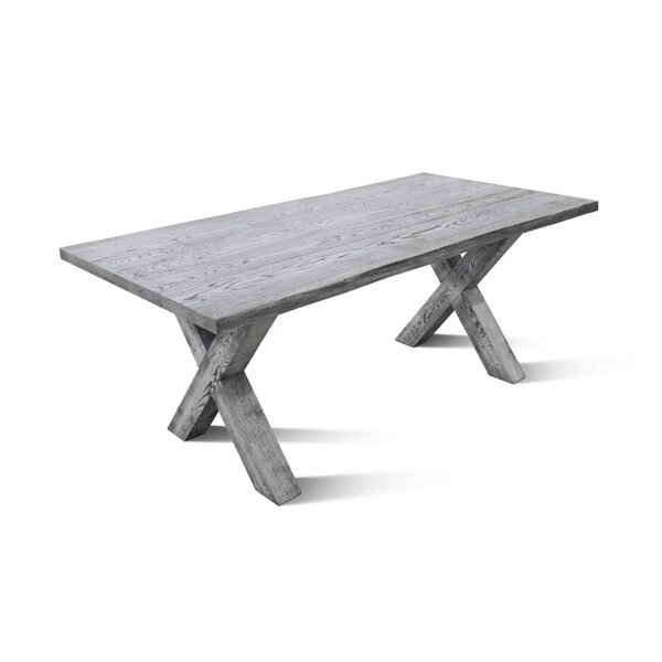 Nicholes X Solid Wood Dining Table by Foundry Select