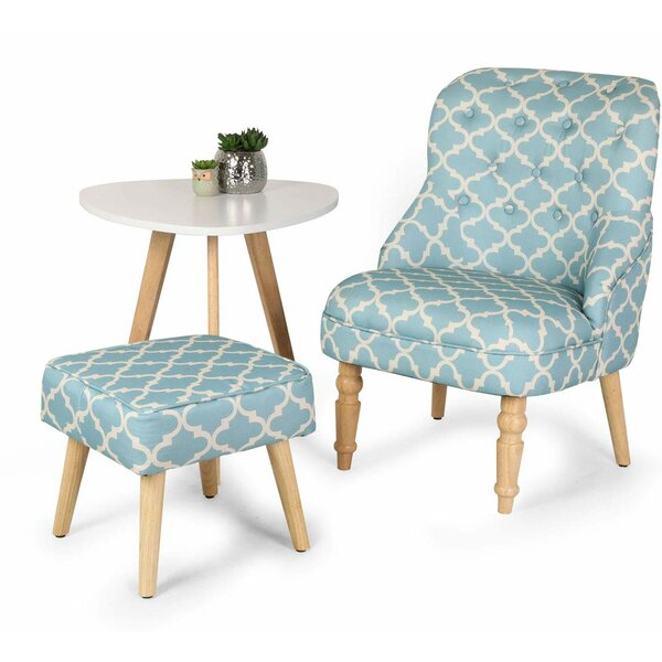 Pinto Elegant Upholstered Fabric Club Chair And Ottoman By Winston Porter