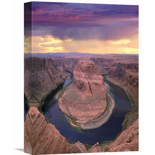 Nature Photographs Storm Clouds Over The Colorado River at Horseshoe Bend Near Page, Arizona by Tim Fitzharris Photographic Print on Wrapped Canvas by Global Gallery