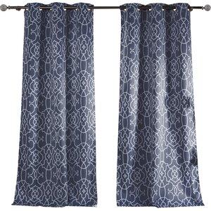 Kit Geometric Blackout Curtain Panels (Set of 2)