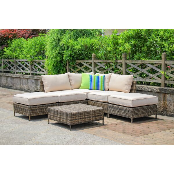 Sophie 6 Piece Sectional Seating Group with Cushions by Beachcrest Home
