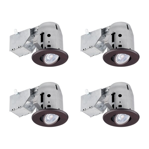 Swivel 4 Recessed Lighting Kit by Globe Electric Company
