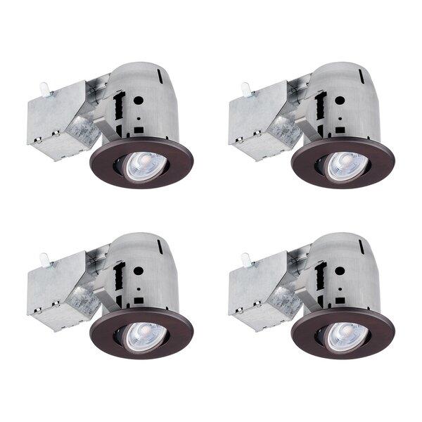 Swivel 4 Recessed Lighting Kit by Globe Electric C