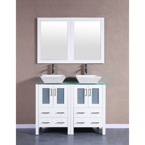 Brigantine 47 Double Bathroom Vanity Set with Mirror by Bosconi