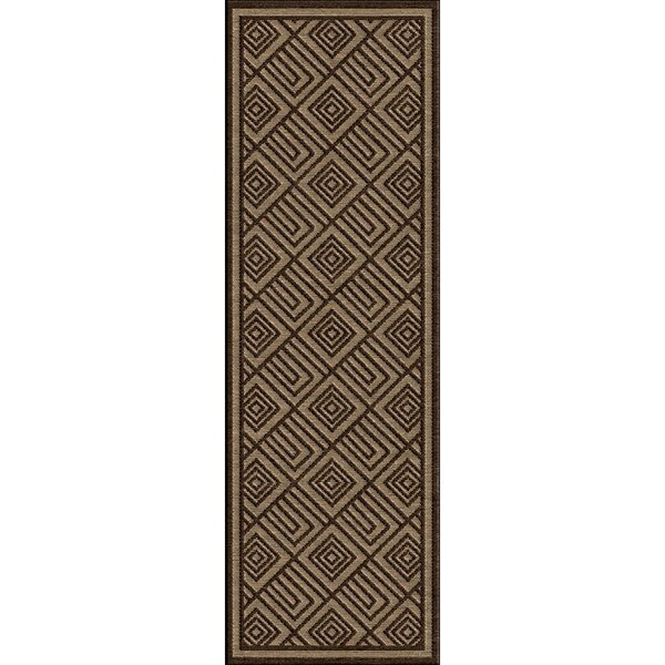 Vassar Dark Brown/Tan Indoor/Outdoor Area Rug by Red Barrel Studio