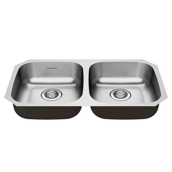 Portsmouth 32 L x 19 W Double Basin Undermount Kitchen Sink
