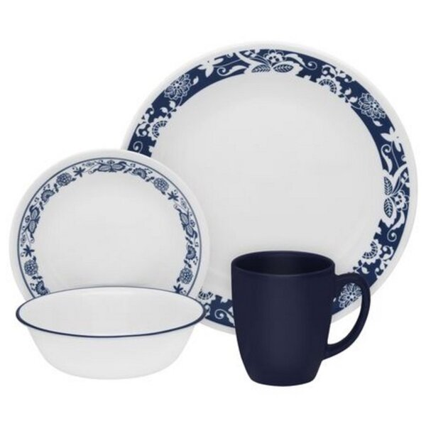 Livingware True 16 Piece Dinnerware Set, Service for 4 by Corelle
