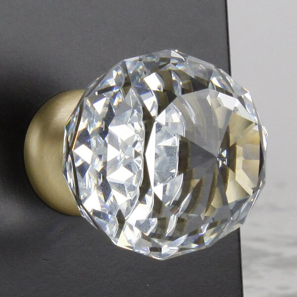 Glamour Transparent Faceted Crystal Knob by Century Hardware