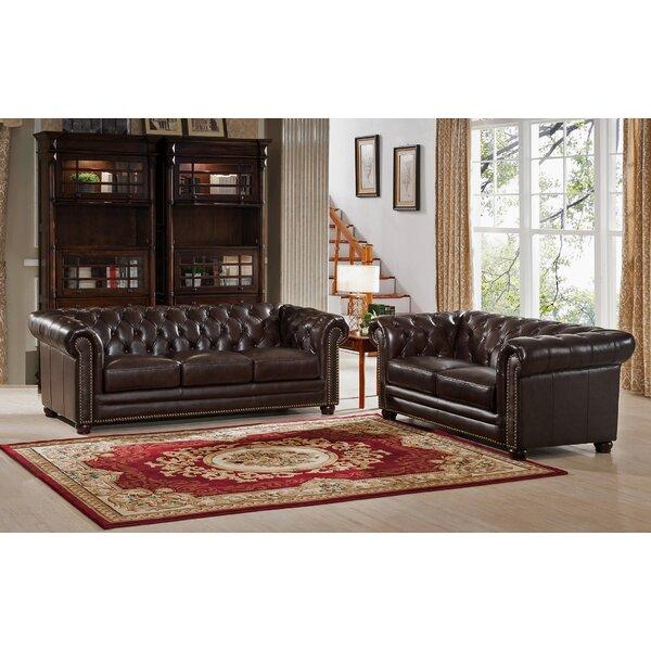 Kensington 2 Piece Leather Living Room Set by Amax