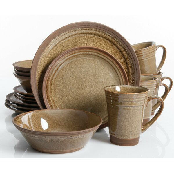 Budron 16 Piece Dinnerware Set, Service for 4 by Charlton Home