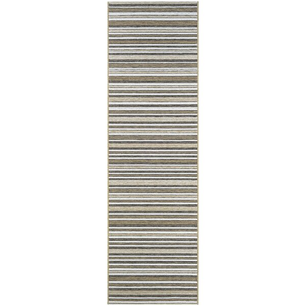 Holdren Light Brown/Ivory Area Rug by Charlton Home