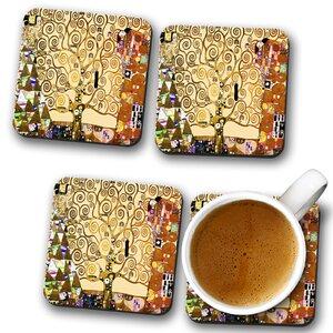 Gustav Klimt the Tree of Life Coaster (Set of 4)