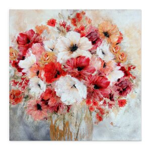 Garden's Passion II by Carol Robinson Painting Print on Wrapped Canvas by Wexford Home