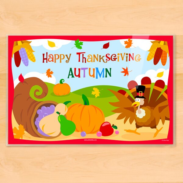 Thanksgiving Personalized Placemat by Olive Kids