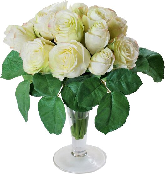 Roses Centerpiece in Decorative Vase by Jane Seymour Botanicals