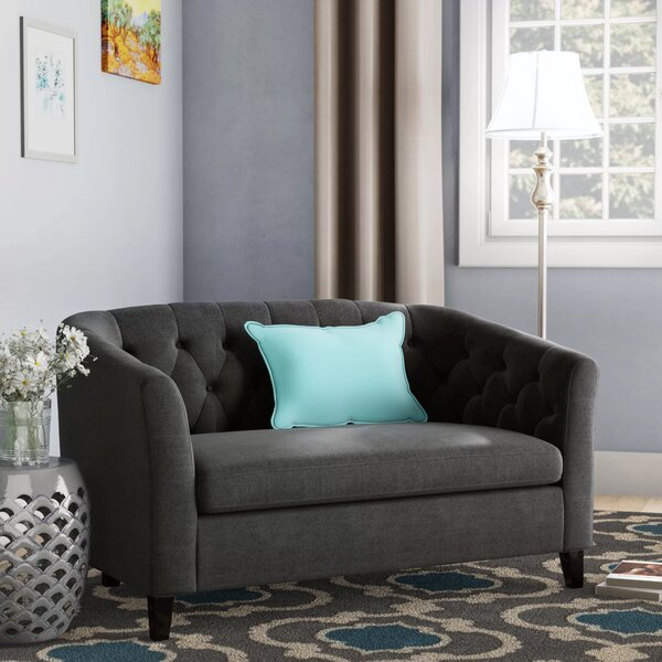 Maxon Chesterfield Loveseat By Andover Mills by Andover Mills 2019 Sale