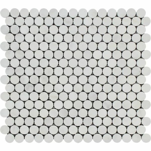 0.75 x 0.75 Marble Penny Round Mosaic Wall & Floor Tile