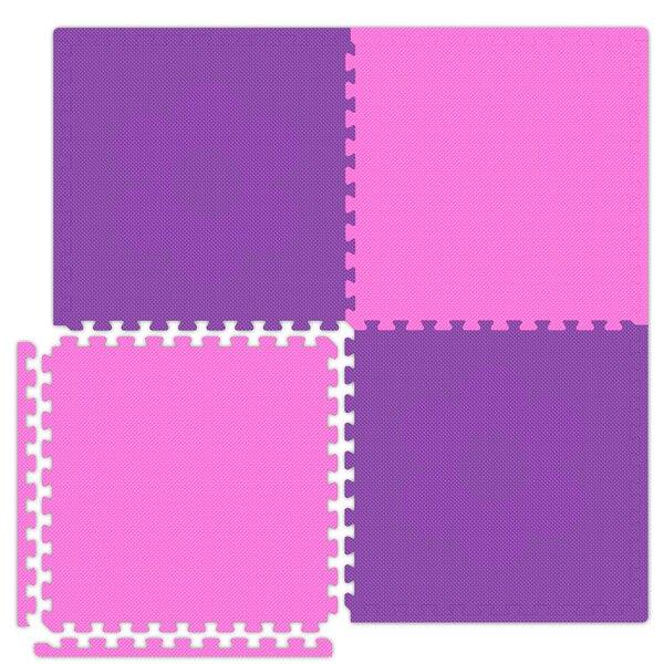 Economy SoftFloors Set in Pink / Purple by Alessco Inc.