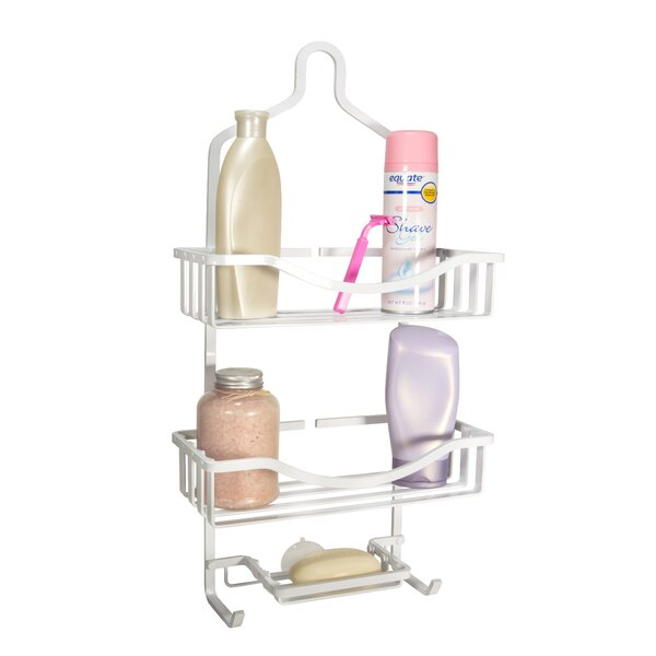 Aluminum Wall Mounted Shower Caddy by Bath Bliss