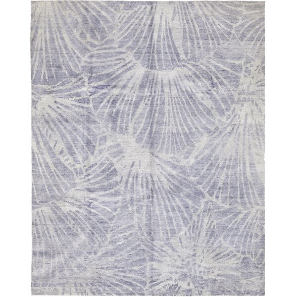 One-of-a-Kind Lemelin Hand-Knotted Wool Blue Indoor Area Rug by Rosecliff Heights
