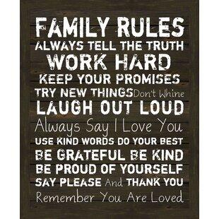 Beau Family Rules Framed Print