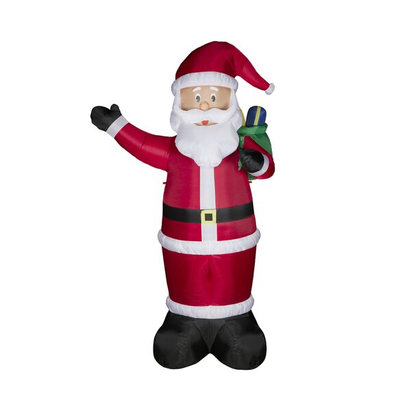 Lighted Santa Decor Inflatable by Glitzhome